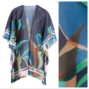 Ted Baker Accessories - TED BAKER Baylee Supernatural Abstract Scarf Cape
